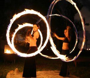 Buskers Fire Dance